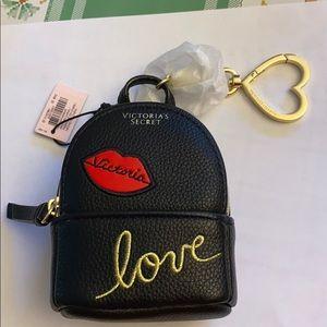 VS embellished backpack keychain